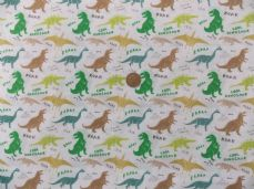 Dinosaur poly cotton fabric sold per metre